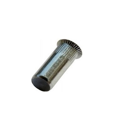 Заклепка M6*23,5 мм из стали с внутренней резьбой, потайной бортик, закрытая, с насечкой