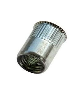 Заклепка M5*11,5 мм из алюминия с внутренней резьбой, уменьшенный бортик, с насечкой