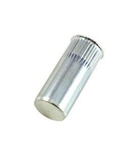 Заклепка резьбовая закрытая с маленьким бортиком и насечкой из стали M5*19 мм