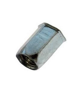 Заклепка M5*14 мм из стали с внутренней резьбой, уменьшенный бортик, шестигранная