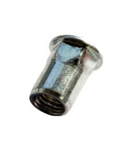 Заклепка M10*22 мм  из нержавеющей стали с внутренней резьбой, цилиндрический бортик, полушестигранная