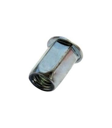 Заклепка M5*13,5 мм из стали с внутренней резьбой, цилиндрический бортик, шестигранная